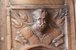 Wooden head in Ante-Chapel