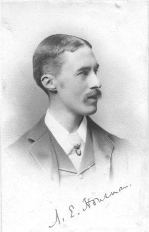 alfred edward housman essay Alfred edward housman, a classical scholar and poet, was born in fockbury in the county of worcestershire, england on march 26, 1859 his poems are variations on.