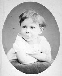 Russell as a child