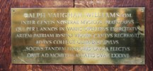 Vaughan Williams. Click for enlarged photograph